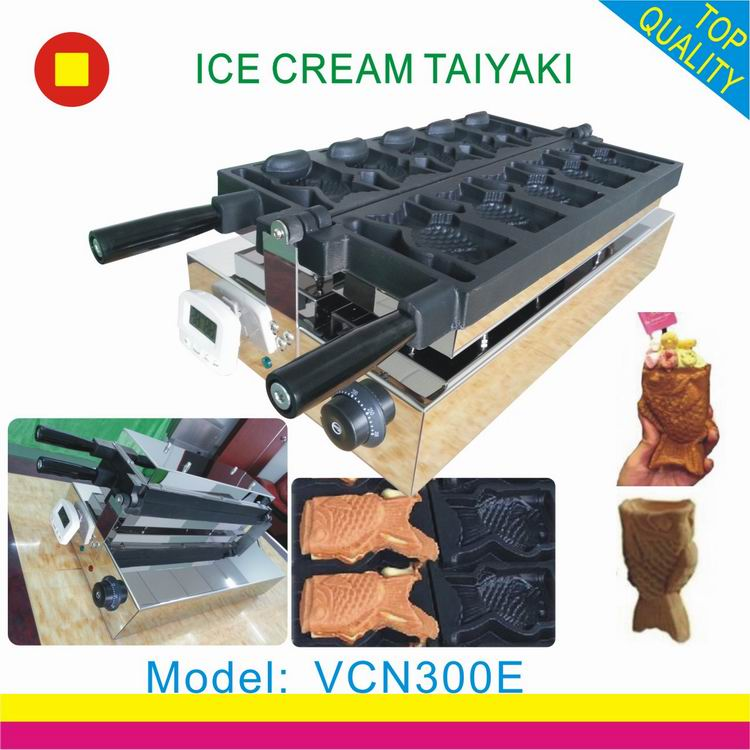 Open mouth taiyaki machine