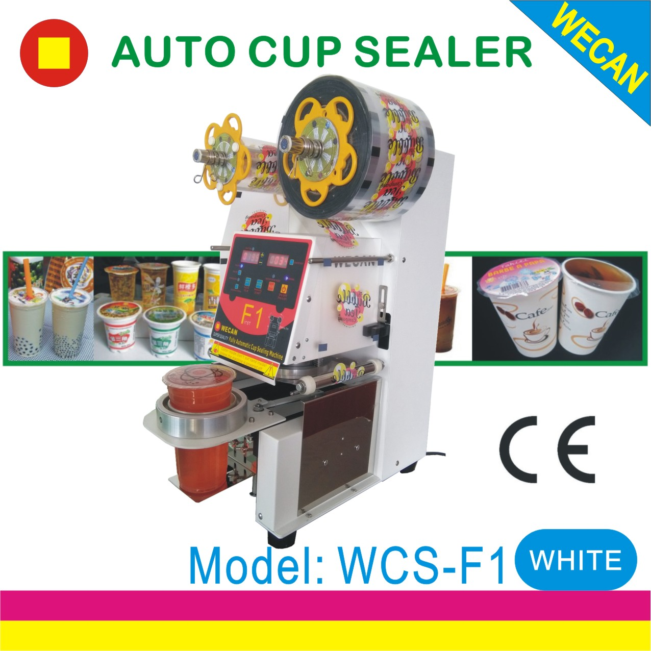 Desktop Fully Automatic Cup or Bowl sealing machine